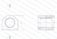 Nakrętka szpilki spinającej S55