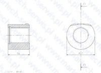 Dolna nakrętka szpilki spinającej HB20B