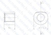 Nakrętka szpilki spinającej F22 dolna