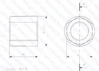 Nakrętka szpilki spinającej do MES553